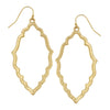 Susan Shaw Gold Medallion Outline Earrings
