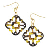Susan Shaw - Tortoise Clover Cut Out Earrings