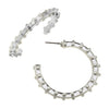 Susan Shaw - Silver Dotted Hoop Earrings