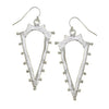 Susan Shaw - Studded Silver Spear Earrings