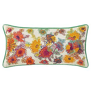 French Knot Floral Pillow 12x24