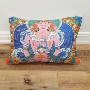 Large Hindu Decorative Lumbar Throw Pillow