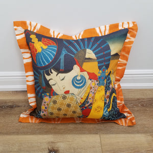 Geisha Decorative Throw Pillow