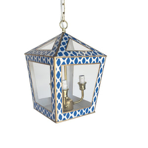 In Store Only Tucker Lantern in Navy Parsi