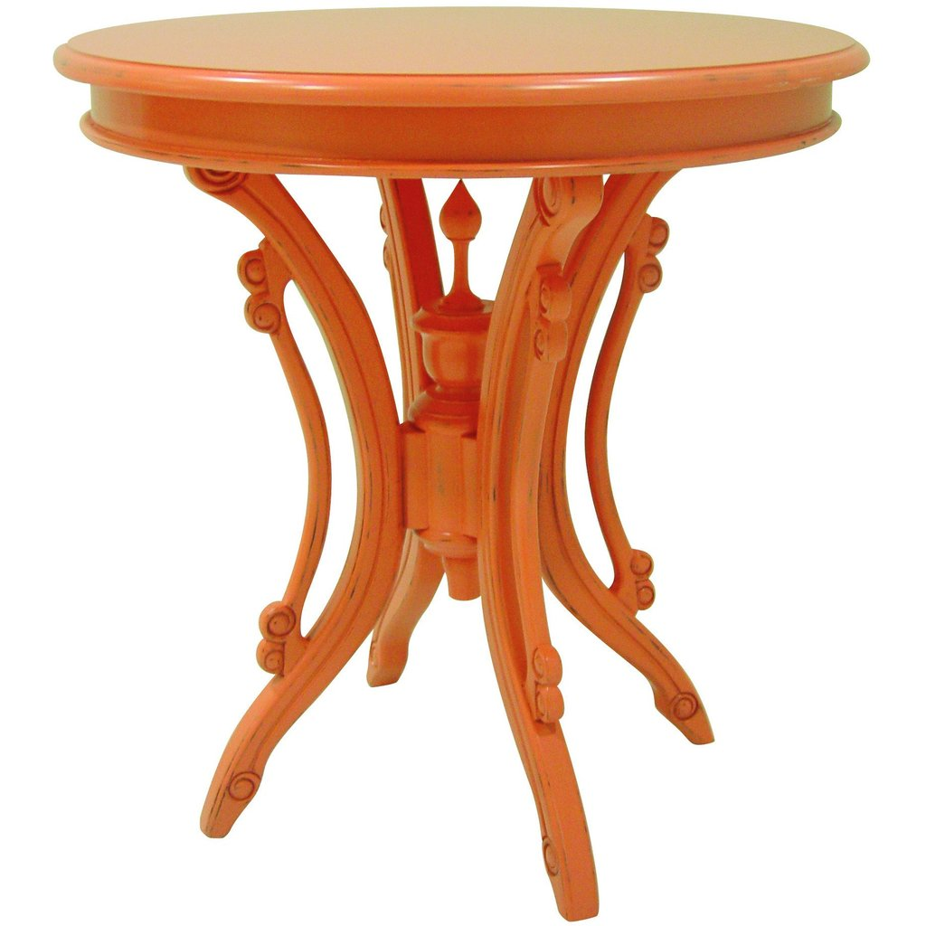 Victorian Tea Table in Coral - In Store Only