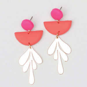 Blythe Pink and Coral Earrings