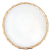 Bamboo Chargette Set of 4 - Gold and White
