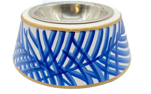 Palm Pet Bowl Large Blue