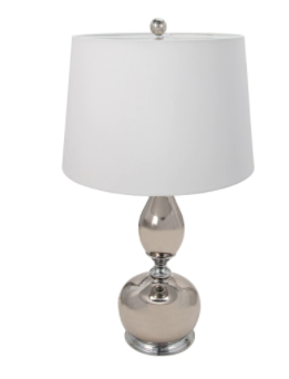 "Set of Two Ceramic 33"" Genie Table Lamp, Sliver"