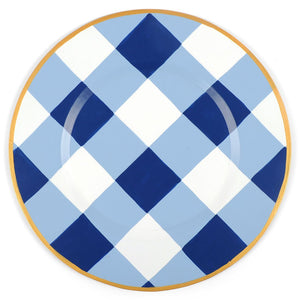Charger - Buffalo Plaid Gingham Blue