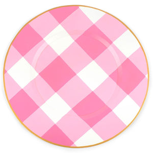 Charger - Buffalo Plaid Gingham Pink