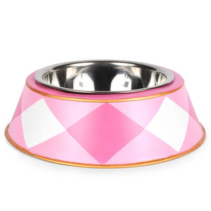 Pet Bowl - Pink Buffalo Plaid Gingham