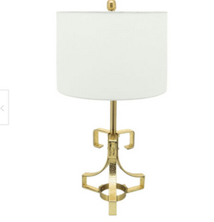 Set of 2 Gold Metal Croc inspired Table Lamp