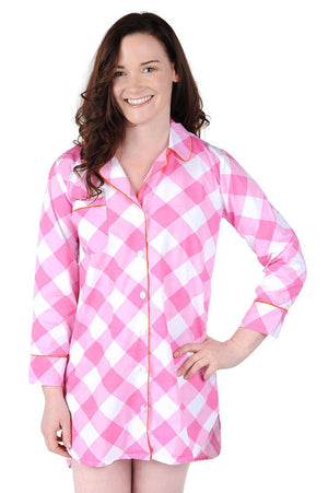 Cotton Poplin Sleep Shirt - Buffalo Plaid