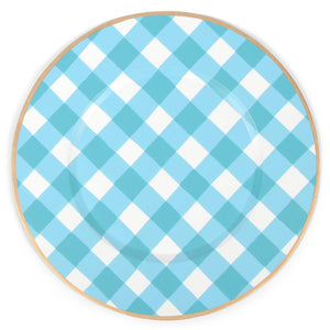 Charger Set of 4 Blue Gingham Diamond