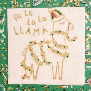 Cocktail Beverage Napkin -  Fa La La La Llama