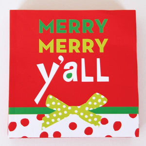 Cocktail Beverage Napkin - Merry Merry Y'all