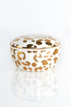Porcelain Trinket Box - Leopard