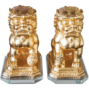 Gold Foo Dogs Pair