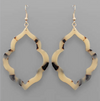 Acrylic Arabesque Frame Earrings