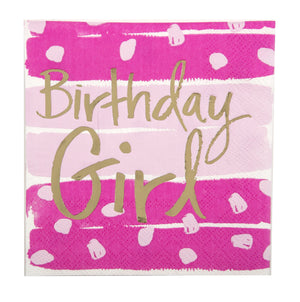 Cocktail Beverage Napkin - Birthday Girl
