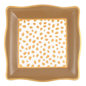 Social Tray - Spot On White and Gold