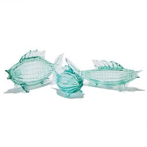 Aqua Fish Art Glass