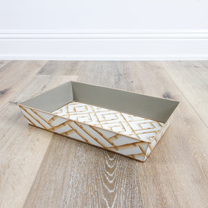 Bamboo Cream Organizing Tray