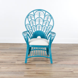 In Store Only Peacock Arm Chair - Blue Nile Clean