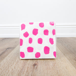 Cocktail Beverage Napkin - Pink Fleck Dots