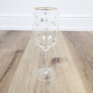 Gold Star Wineglass