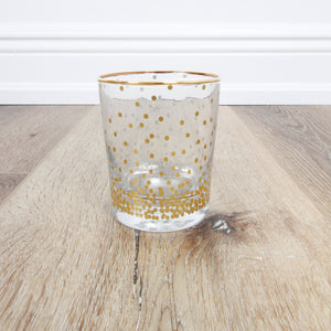 Gold Dots Highball Glass