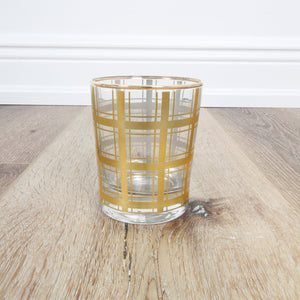 Gold Plaid Highball Glass