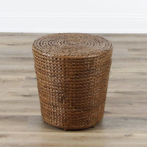 Braided Drum Ottoman - In Store Only