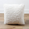 Faux Fur in Cream Decorative Throw Pillow