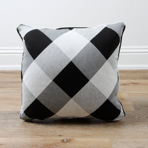 Pair of Carver Plaid Gingham Decorative Throw Pillow