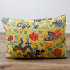 Floral Dragons Chinois et Japonais Decorative Lumbar Throw Pillow