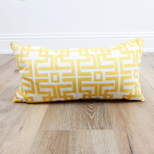 Aztec Gold Lumbar Pillow