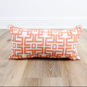 Aztec Coral Lumbar Pillow