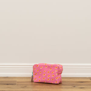 Cosmetic Bag Large - Chips Pink/Orange