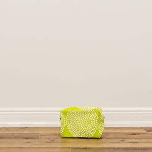 Cosmetic Bag Large - Big Wheels Citron