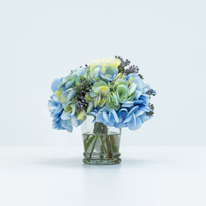 Diane James Small Mixed Blue Hydrangea Bouquet