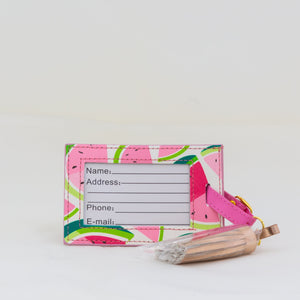 Luggage Tag with Tassle - Watermelons