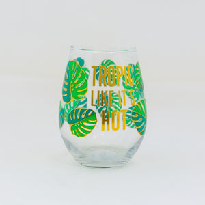 Tropic Like It's Hot Stemless Wineglass