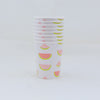 Watermelon Paper Party Cup Stack