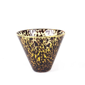 Stemless Martini Glass - Tortoise Shell Print