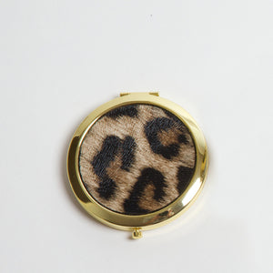 Compact Mirror - Leopard