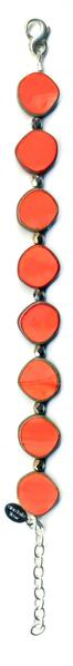 Stephanie Wolf Full Circle Bracelet - Coral