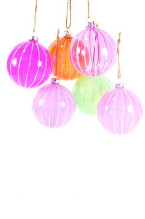 Translucent Ribbed Ornament