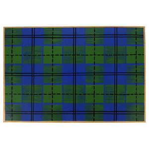 Placemat Set of 4 - Tartan Plaid Blue and Green